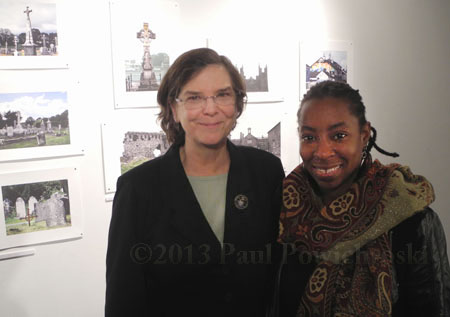 Ade and me at opening, Creative Alliance, Baltimore, MD