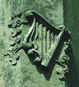 Tombstone Detail, Saint Bernard's Cemetery, New Haven, CT ©2011 Janet Maher