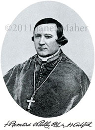 ©2011 Janet Maher, Bishop Bernard O'Reilly, from O'Donnell's 1890 publication, History of the Diocese of Hartford