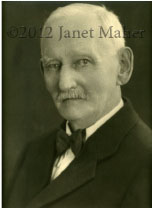 ©2012 Janet Maher, portrait of the author's great grandfather