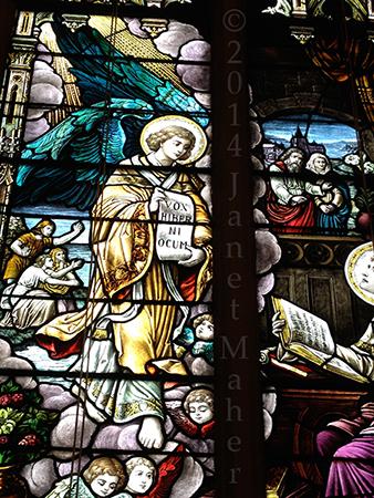 ©2014 Janet Maher, St. Patrick's Church Window, Vox Hiber Hi Ocum