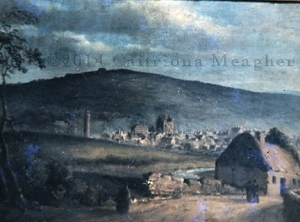 ©2014 Caitriona Meagher, Roscrea, Looking Toward Clonan, artist unknown, image given to C. Meagher by G. Cunningham