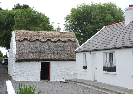 Thatched Roof House On the Road to Fanore (Very Much Alive!) ©2016 Janet Maher