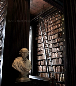 Shakespeare, Trinity College Long Hall ©2016 Janet Maher