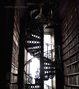 Staircase, Trinity College Long Hall ©2016 Janet Maher